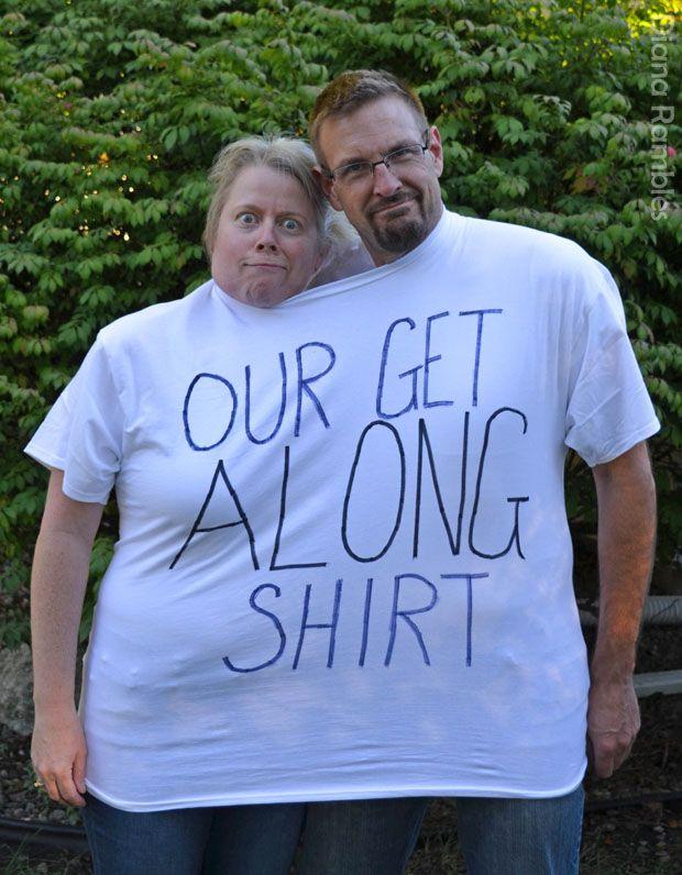 Our Get Along Shirt Couple Halloween Costume  AD #tutorial #Halloween