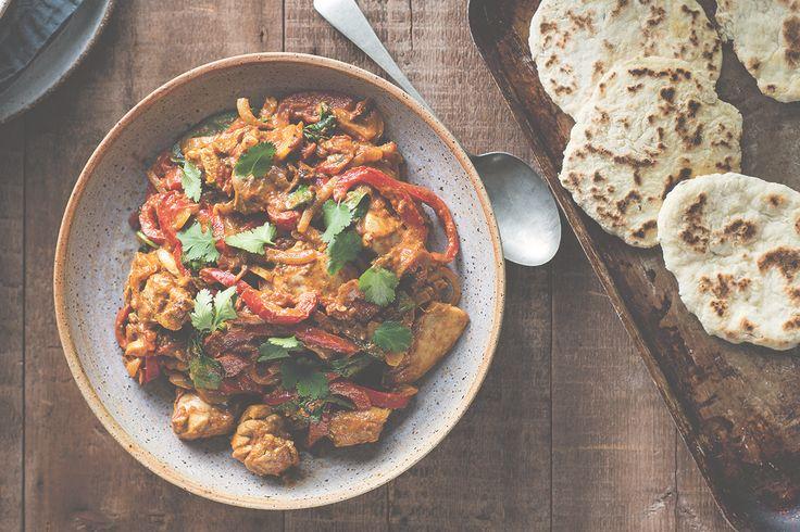 Chicken Korma with Cumin Naan via @iquitsugar