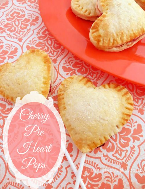 How to make pie pastry pops - cherry pie heart shaped pops! Adorable individual pie on a stick creative dessert idea!