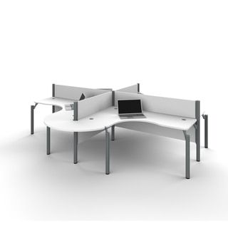 Shop For Bestar Pro Biz Four L Desk Workstation With Rounded Corners. Get ·  Office Furniture StoresCubiclesDesks