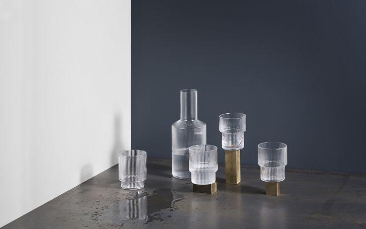Ripple caraffa ed bicchieri/carafe and glasses ferm LIVING https://www.aitonordic.it/collections/protti-per-cucina-e-per-tavolo/products/ripple-caraffa-ferm-living