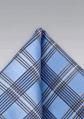 Pochette bleu clair carreaux