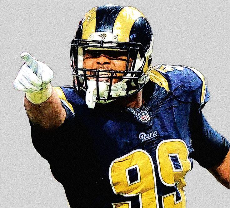 Los Angeles Rams DT Aaron Donald Football illustration