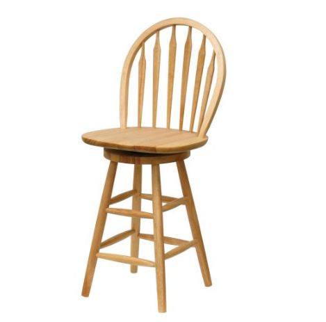 Natural Windsor Swivel Seat Bar Stool, 24-Inch by Winsome