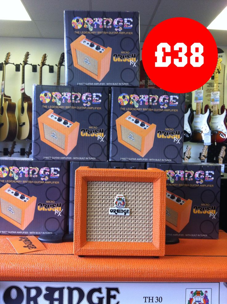 Product of the Day!  We love these mini Orange Amplifiers CR3 Micro Crush PiX Amps.  This little beauty can go anywhere. With a handy built-in digital tuner you can stay in tune and rock out some quality riffs! At such a great price it's the perfect gift for any guitar player and just £38 - http://www.guitarbitz.com/guitar-amplifiers-c20/electric-guitar-amplifiers-c23/orange-amps-cr3-micro-crush-pix-3w-battery-powered-combo-amp-p2523