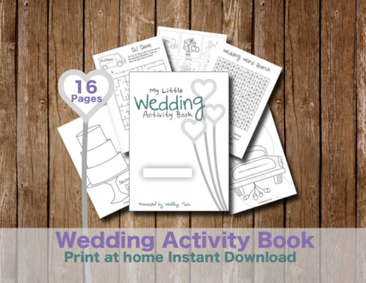 Kids Wedding Activity Book - Print at home kids games and puzzles for weddings by WeddingToolzStore on Etsy https://www.etsy.com/listing/177115997/kids-wedding-activity-book-print-at-home