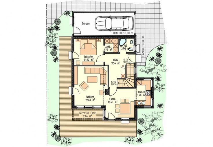 19 best grundrisse und h user images on pinterest floor plans arquitetura and contemporary houses. Black Bedroom Furniture Sets. Home Design Ideas