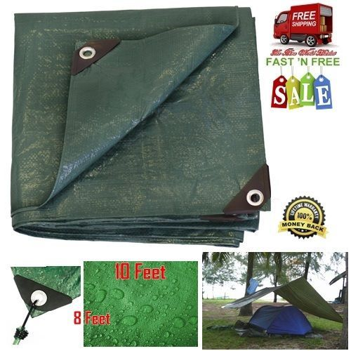 Waterproof Tarp Tents Reinforced Heavy Duty Shade Rust Resistant Grommet Camping    eBay