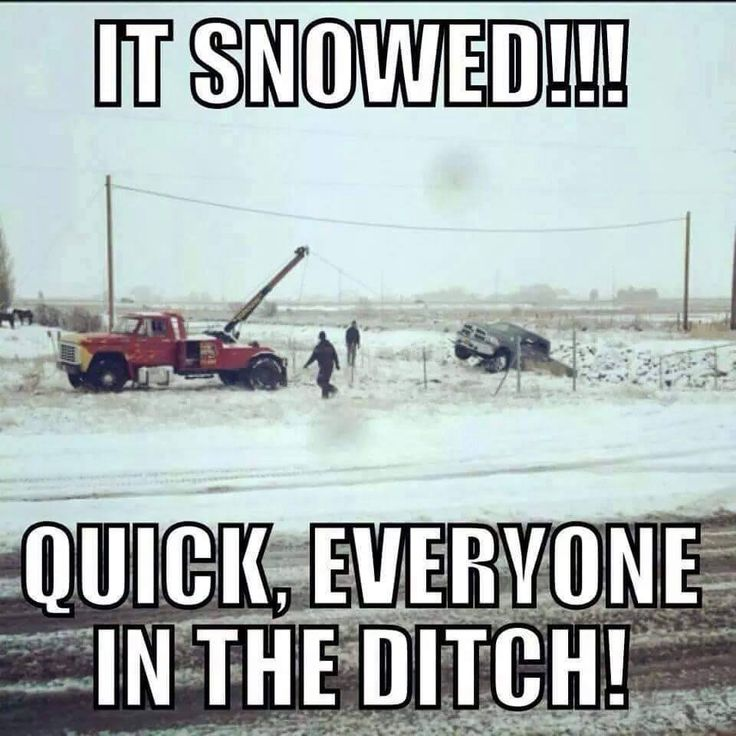 That first snow...... it's like people forget how to drive…