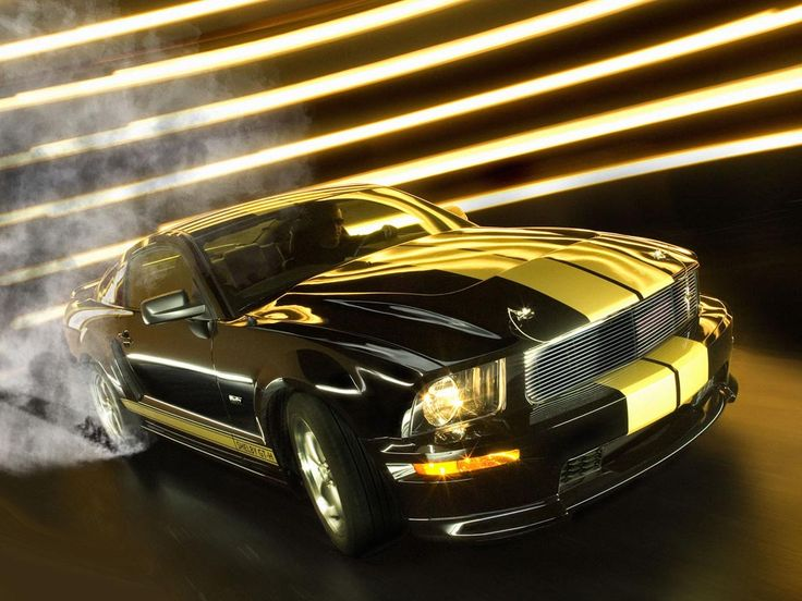 shelby cobra black with yellow racing stripes ford. Black Bedroom Furniture Sets. Home Design Ideas