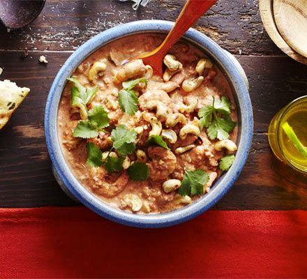 Aromatic prawn & cashew curry - BBC Good Food - Garam ...