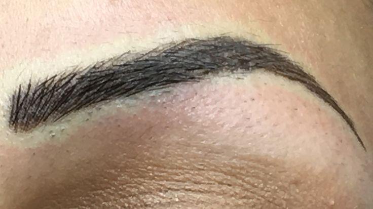 Semi permanent hairstroke brows