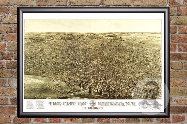 Buffalo, NY Historical Map - 1880