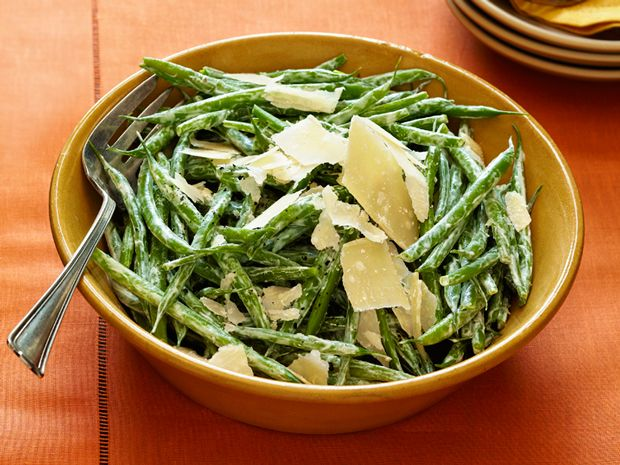 Haricots Verts With Shaved Parmesan Recipe : Sandra Lee : Food Network - FoodNetwork.com