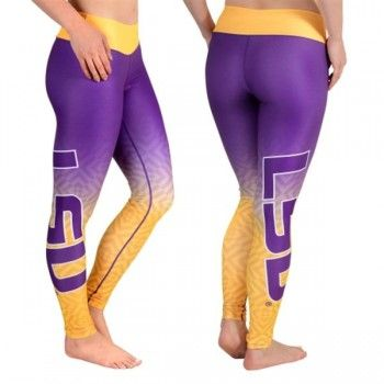 LSU Tigers Gradient Print Ladies Leggings