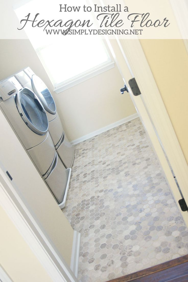 How to Install Hexagon Tile Floors | a complete tutorial for how to demo, prep, install concrete backer board and install new tile floors | ...