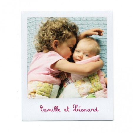 faire-part de naissance polaroid 2 photos