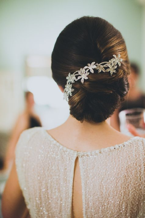 Floral Hairpiece  #wedding #hairstyle #updo