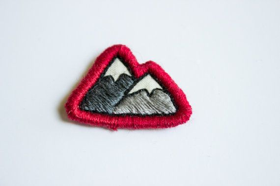 Hey, I found this really awesome Etsy listing at https://www.etsy.com/listing/199080597/mountain-embroidered-patch-grey-mountain