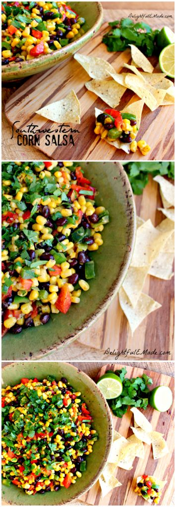This fresh, delicious salsa, is a great go-to dip or appetizer. Perfect for a party, get-together or even tailgating. Grab so tortilla chips and dig in!