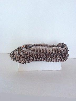 Soulier porte-bijoux paille tressée brun   No. 0634