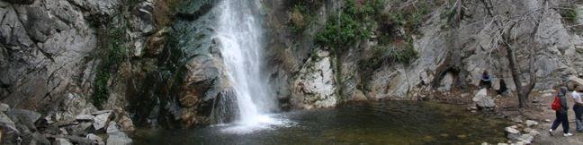 Sturtevant Falls Waterfall Los Angeles National Forest Santa Anita Canyon San Gabriel Mountains Chantry Flats