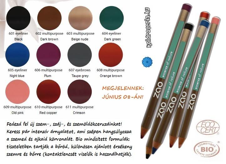 ZAO bio szemceruza, szájceruza, szemöldökceruza // ZAO organic pencils for eyes, lips and eyebrows