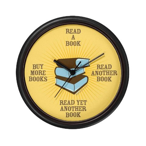 Sorry, hubby, can't do the dishes right now. Didn't you look at the clock? It's time to read!  :)
