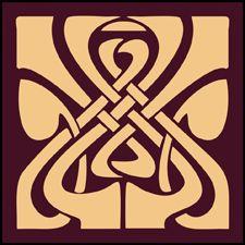 Art Nouveau Tile Stencils