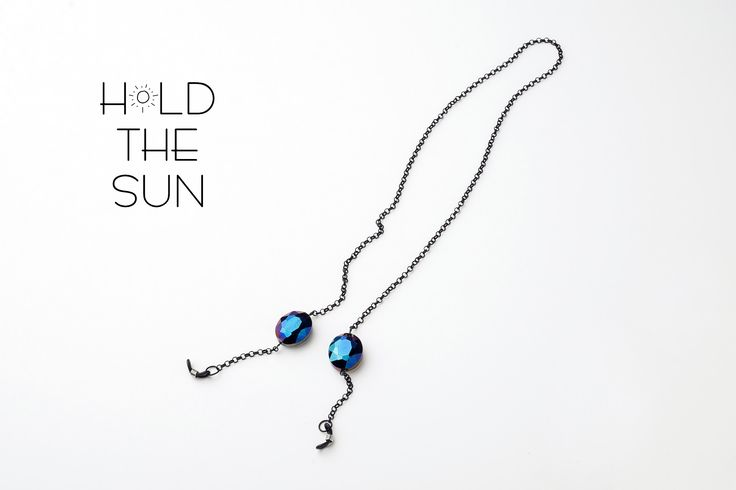 OCEANIS • Sunglasses chain with diamond shaped beads. • Inspired by the endless blue of the Greek seas. • Attachments are adjustable to fit any size eyewear frame by sliding the metal spring up & down. #sunglassesstraps #sunglasseschain #sun #greece #fashion #sunglasses #holdthesun