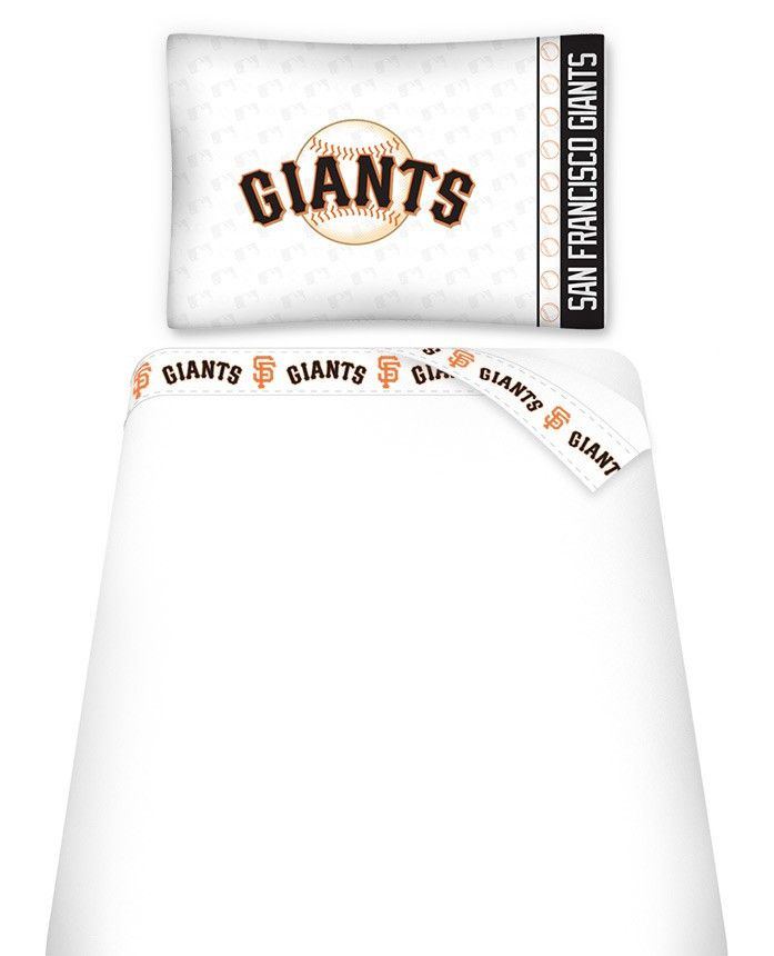 SAN FRANCISCO GIANTS MICRO FIBER SHEET SET TWIN GIANTS