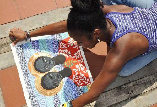 Alma de Pretinha - Alma de Pretinha - A ilustradora Brianna é auto didata e vive em Trinidade Tobago, suas ilustrações em técnicas diversas são hipnotizantes e carregam aquele colorido tropical particular da cultura negra como um todo.