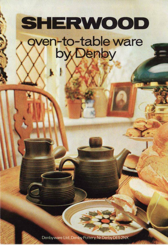 Denby. Sherwood. 1966. The original Sherwood created by Gill Pemberton. Denby & 15 best Denby pottery Arabesque / Samarkand /canterbury/sherwood ...