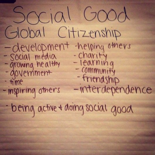 what is social good and global citizenship | LiveDoGrow