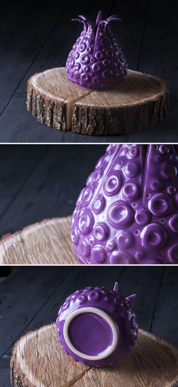 """Ceramic Vase   Керамическая ваза """"Octopus Serenity"""""""