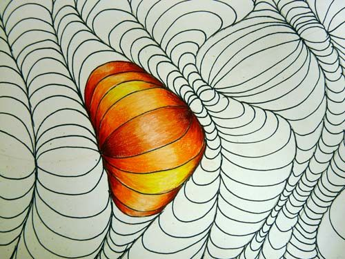 Whoa.  I love this drawing technique by Julianna Kunstler.Drawing Tutorials, Optical Illusions, Art Lessons, Abstract Art, Optical Design, Colors Pencil, Op Art, Colored Pencils, Art Projects