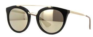 Óculos de sol Prada 23SS Dourado Espelhado