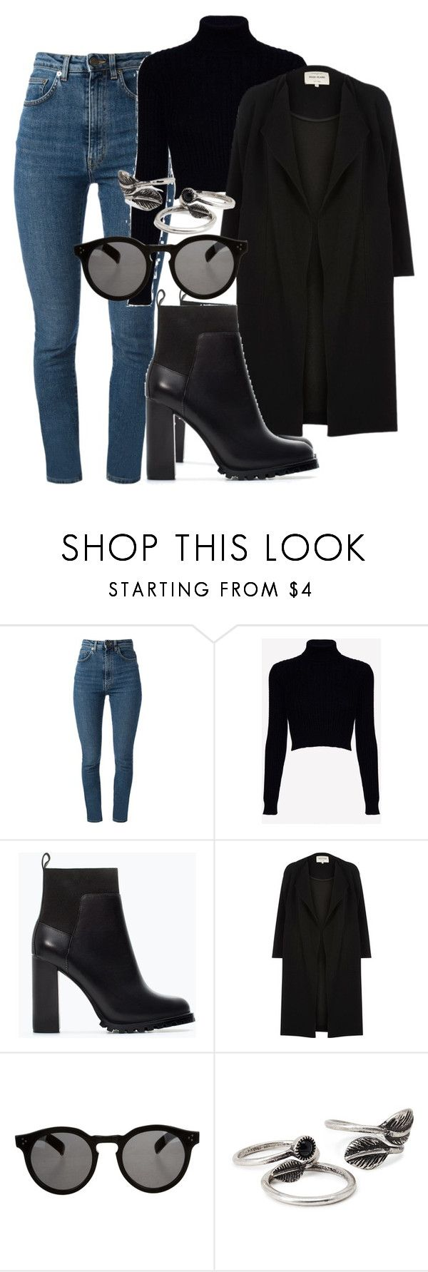 """""""Sem título #2214"""" by mariandradde ❤ liked on Polyvore featuring Yves Saint Laurent, Jack Wills, Zara, River Island, Illesteva and Forever 21"""