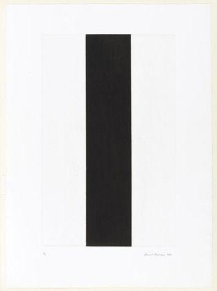 Barnett Newman. Untitled Etching #2. 1969