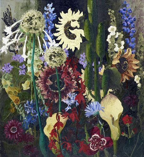 cedric morris flowers | Cedric Morris - Paysage du Jardin No. 2, 1931 - Oil on canvas Private ...