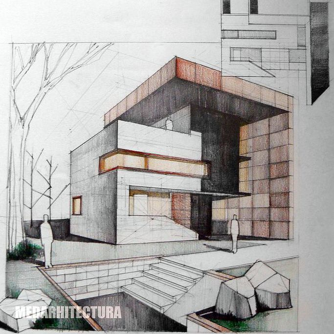 Best Sketching Interior Design Architecture Images On