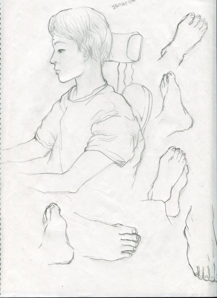 foot face drawing croquis /2014.12