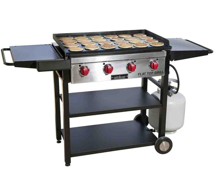 This Camp Chef FTG600 Flat Top Grill includes huge interchangeable flat top griddle.