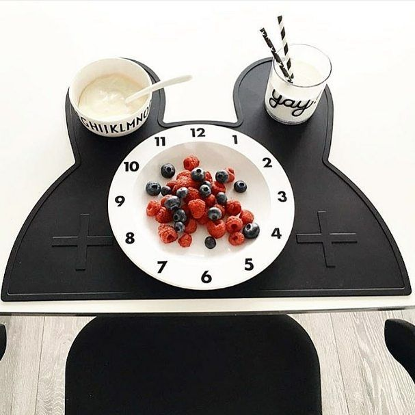 M O N O C H R O M E Our black bunny placemat with the perfect fruity snack by…