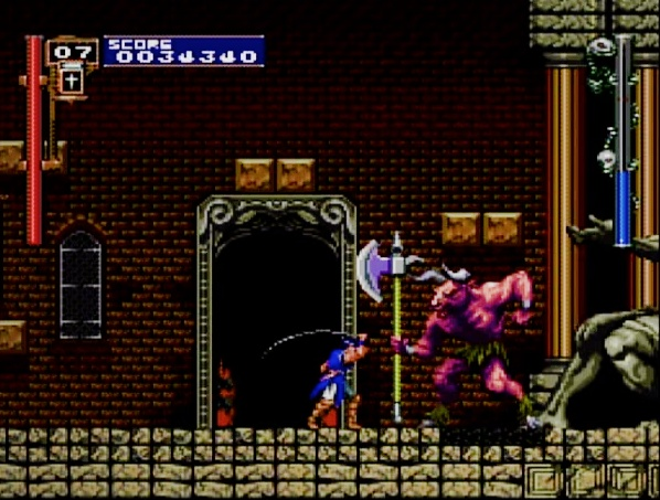 Castlevania Rondo of Blood third boss  for the PC Engine SUPER CD-ROM #PCEngine #PCE #NEC #PC #Engine #SUPER #CD-ROM #Castlevania #Rondo #of #Blood #RoB #Boss #Taurus #Retro #Gaming