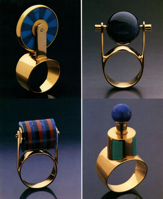 I've been trying to do this same design (bottom left corner) for months! At least I know it's possible now. Rings by Michele de Lucchi
