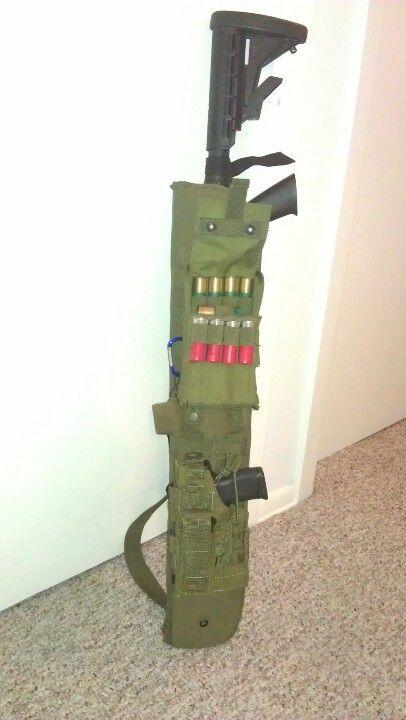 My SHTF gun bag. Mossberg 500 & Taurus PT111 Pro. Voodoo Scabbard, Condor Ammo Pouches & Holster.