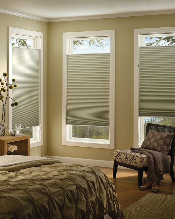 99 best images about hunter douglas honeycomb shades on for Shades for bedroom windows
