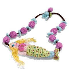 crocheted mermaid necklace