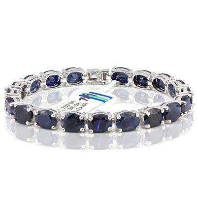 33.0 Carat Blue Sapphire Tennis Bracelet